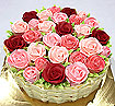 Cakes and Cookies: Color Roses Cake