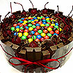 Cakes: Choc Cake with M&M